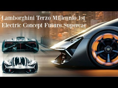 2018 Lamborghini Terzo Millennio First Electric Supercar Concept