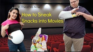 HOW TO SNEAK SNACKS INTO THE MOVIES!!! (PREGNANT BELLY)
