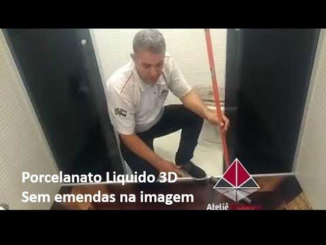 PORCELANATO LIQUIDO 3D BANHEIRO COM 1,50X 1,70 SEM EMENDA NA IMAGEM VEJA