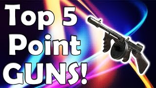 """top 5"" Point Building Weapons In ""call Of Duty Zombies"" ""black Ops 2 Zombies"" Bo1 & Waw Zombies"