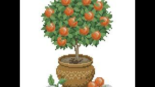 Апельсиновое дерево оформлено!