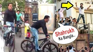 Salman Khan Shouts 'Shahrukh Ka Bungalow' Cycling In Front Of SRK's House Mannat In Bandra thumbnail