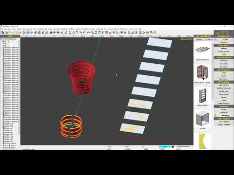 How to create a Column Cadding in PYTHA to Machine