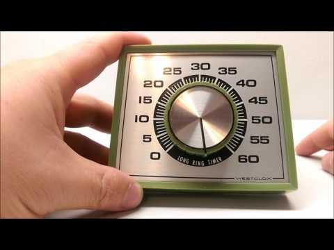 Vintage Westclox Long Ring 60 Minute Kitchen Timer