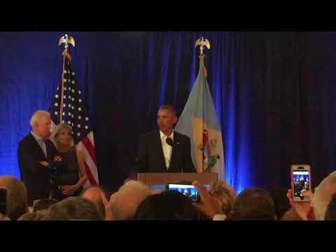 2017-09-25 Barack Obama Speech at Beau Biden Memorial Golf Outing