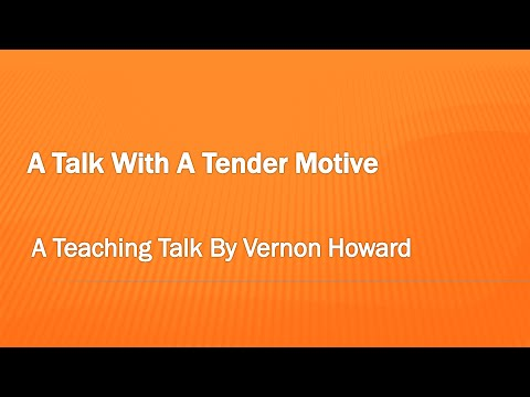 A Talk With A Tender Motive