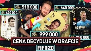 TYLKO NAJDROŻSZE KARTY W DRAFCIE FIFA 20!