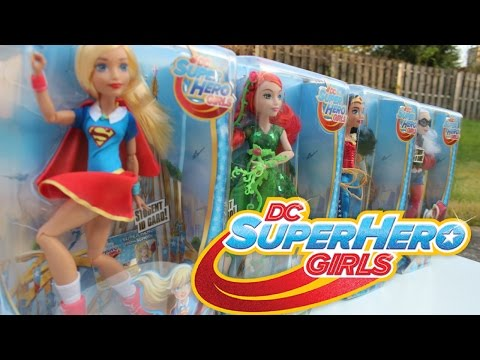 DC SUPER HERO GIRLS DOLLS Collection Unboxing & Review Video!!