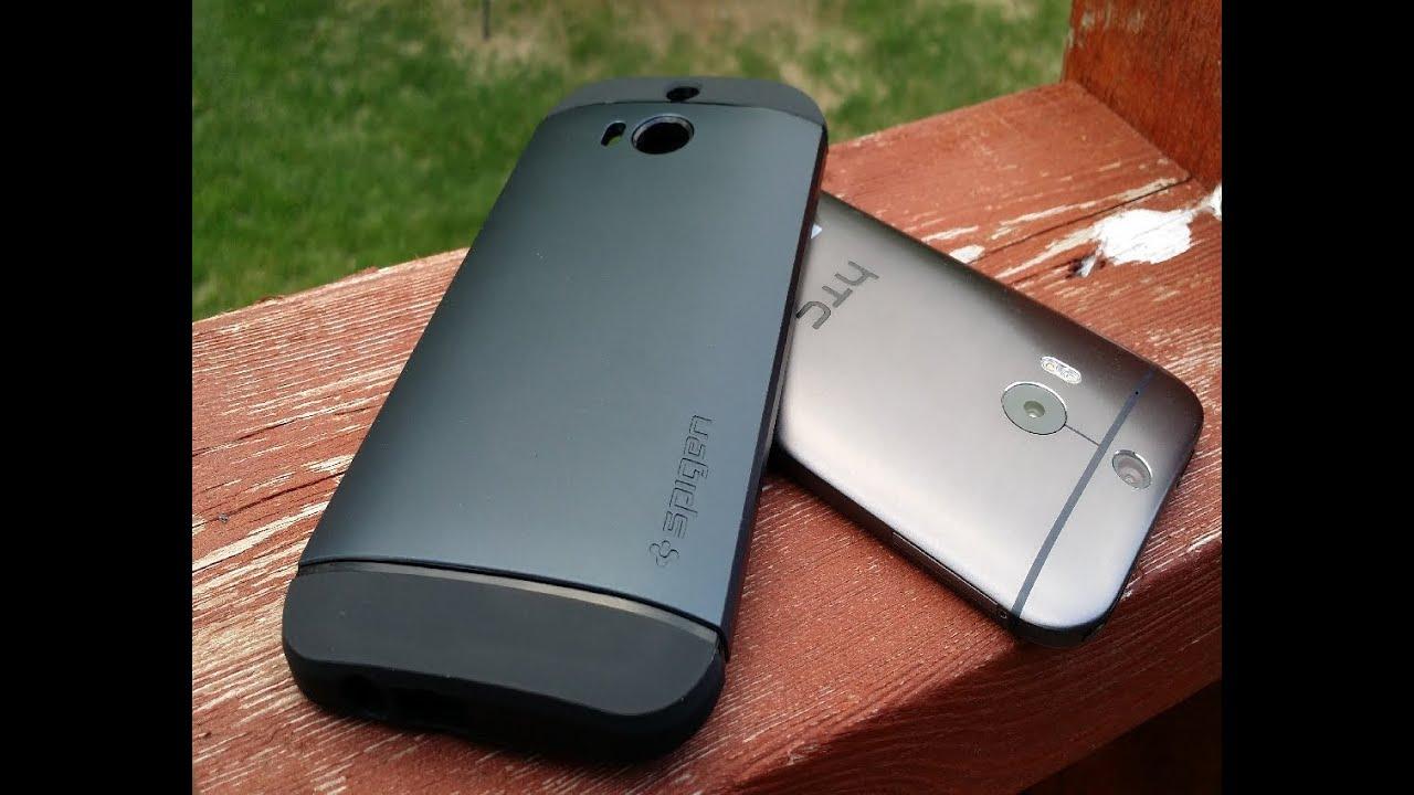 uk availability 38bd1 245f8 Spigen Slim Armor HTC M8 Unboxing Review