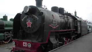 видео Мы в музее паровозов (Переславский железнодорожный музей Кукушка, поселок Талицы)