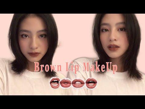 """""""GRWM""""   BROWN LIP MAKEUP WITH ME   MÔI NÂU 💋 브라운 립 메이크업   NGOC 민윤 💄"""