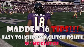 Madden 16 | Easy TD Play | Glitchy Stock Fades