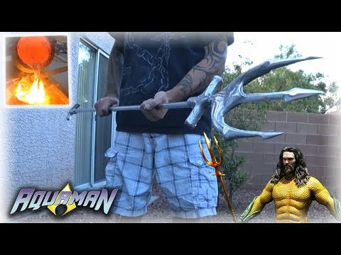 Aluminum Casting Aquaman's TRIDENT From Scrap Metal (FULL SIZE!)