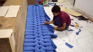 اسهل طريقة لعمل الكابيتونيه للستائر والمفروشات Capitone for curtains and furnishings