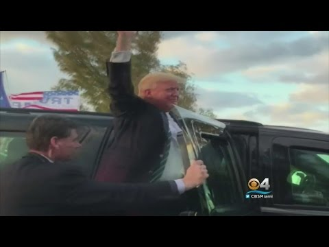 President Trump Returns To Mar-a-Lago After Busy Day In DC