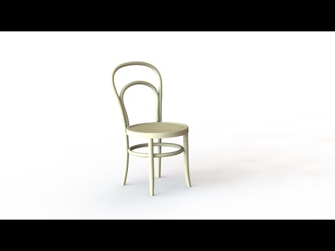 SolidWorks Tutorial #227: Thonet - bentwood Chair (3D back curve)