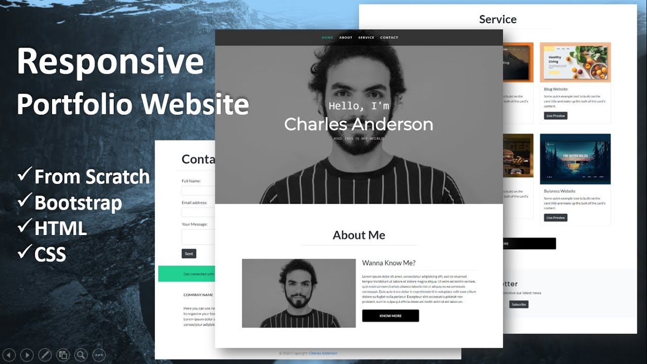 Responsive Portfolio Using Bootstrap Html Css From Scratch