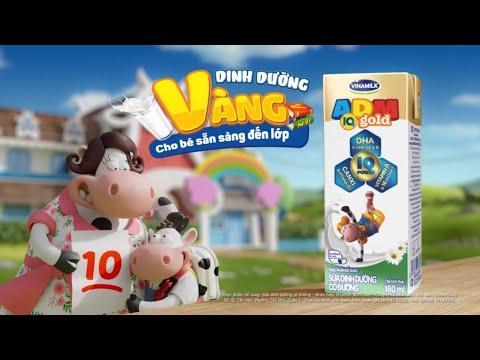 Quảng cáo sữa Vinamilk ADM IQ Gold mới – Dinh dưỡng vàng cho bé sẵn sàng đến lớp
