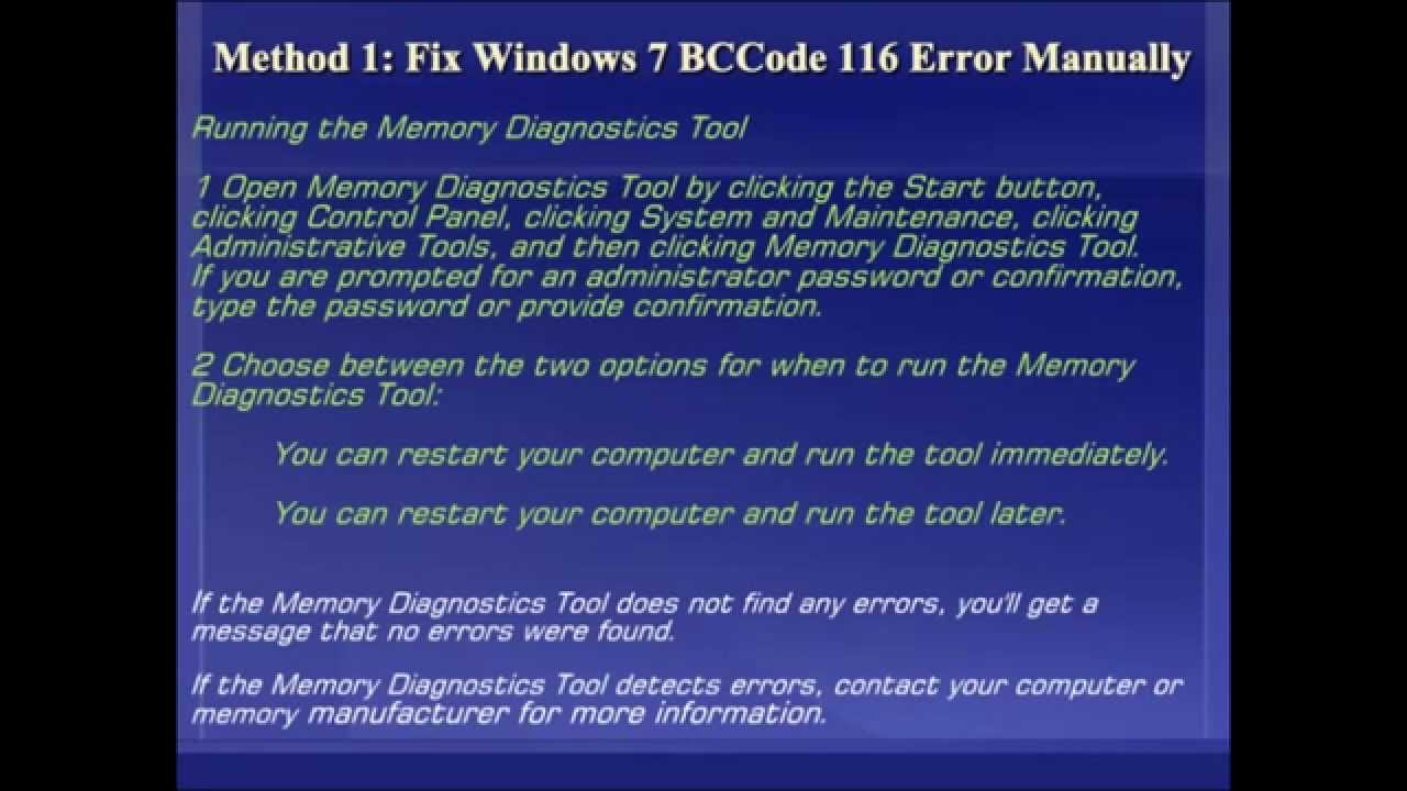 how to fix minidump error windows 7