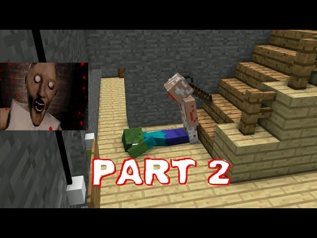 GRANNY HORROR GAME CHALLENGE PART 2 - Minecraft Animation