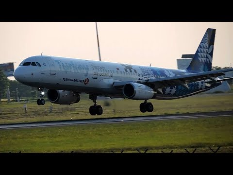 Turkish Airlines Airbus A321-231 Landing And Takeoff At Belgrade Airport