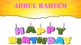 AbdulRaheem   Wishes & Mensajes - Happy Birthday