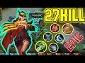 Natalia Star Skin 27 Kills | Mobile Legends Natalia Best Build Skills and Game-play