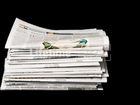 How to make a newspaper purse (Hand-bag)