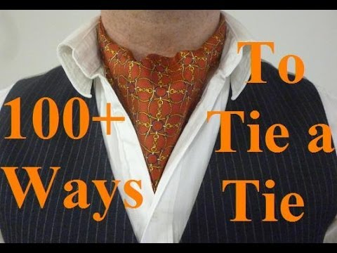 How To Tie An Ascot Or Cravat Without It Coming Undone The Day Knot