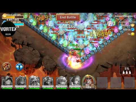 Castle Clash Insane Dungeon 6-1
