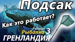 Подсак / РР3 [Русская Рыбалка 3,9 Гренландия](По умолчанию клавиша F Цикл выпусков