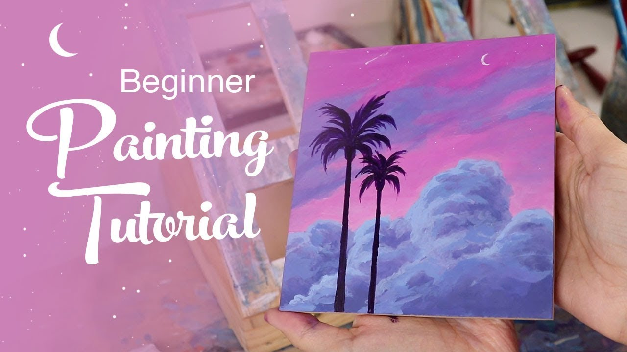 Acrylic Painting Tutorial - For Beginners - YouTube