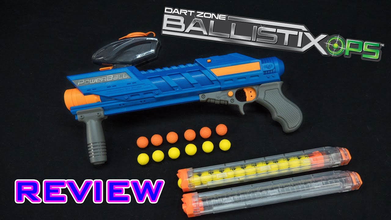 Review Dart Zone Powerball Nerf Rival Compatible Youtube