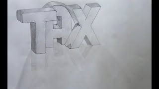 How To Draw 3D Word In Mirror Effects  - 3D Trick Art on paper