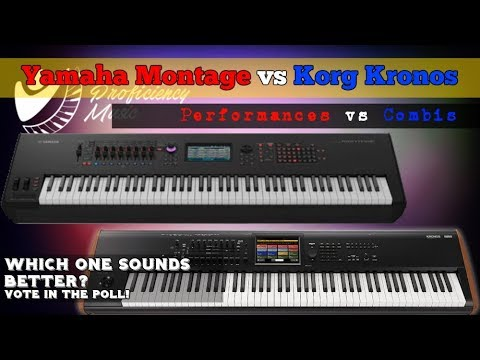 Yamaha Montage vs Korg Kronos: Performances vs Combis