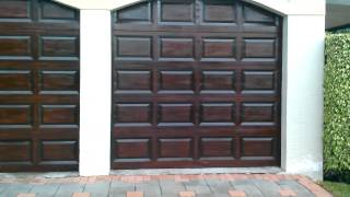 Garage Doors Rich Mahogany Gel Stain Wood Finish