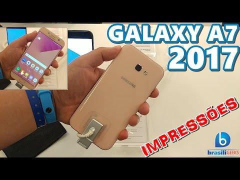 Conhecemos o Galaxy A7 2017! Veja nossas impressões!