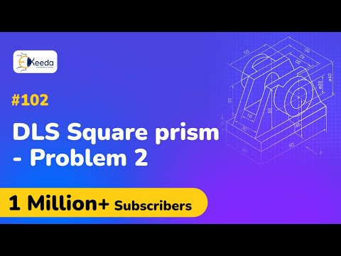 Problem 2 Based on Square Prism - Development of Lateral Surfaces - Engineering Drawing