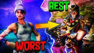 RANKING *ALL* THE LEGENDARY SKINS IN FORTNITE FROM WORST TO BEST!
