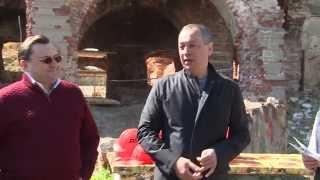 Начало реставрации усадьбы Пущино-на-Наре