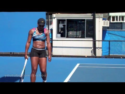 Serena Williams - Closeup Backhand Returns in Slow Motion