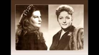 """ZINKA MILANOV e MARGARET HARSHAW -  Norma """"Mira o Norma""""  (1946)"""
