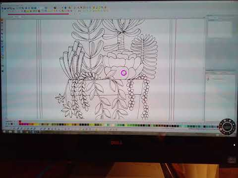 Brother PE Design Videos - Desert Dreams Digitizing Class - Block Three Cactus