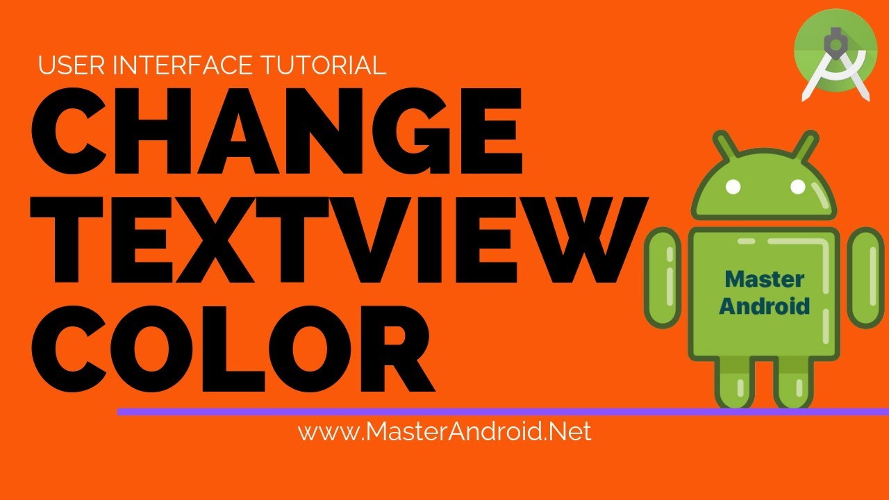 How to change Textview color in android studio? - TextView Tutorial part 2