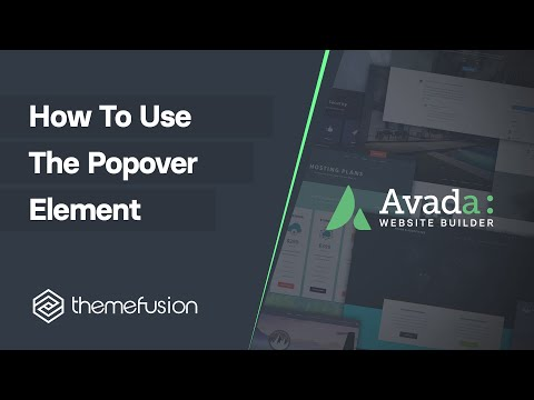 How To Use The Popover Element Video