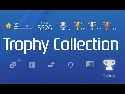 My PSN Trophy Collection. 94 Platinums, Level 28.