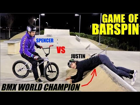Game Of BIKE Vs. THE WORLD CHAMPION! (Barspins Only)