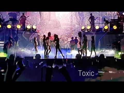 Britney Spears Live in Manila - Slumber party, Touch of my hand and Toxic