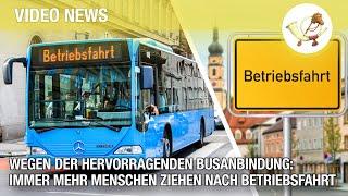 Wegen der hervorragenden Busanbindung: Immer mehr Menschen ziehen nach Betriebsfahrt