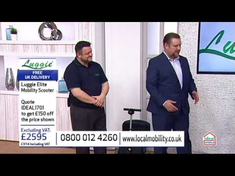 Luggie Folding Mobility Scooter on Ideal World TV 17th January 2017